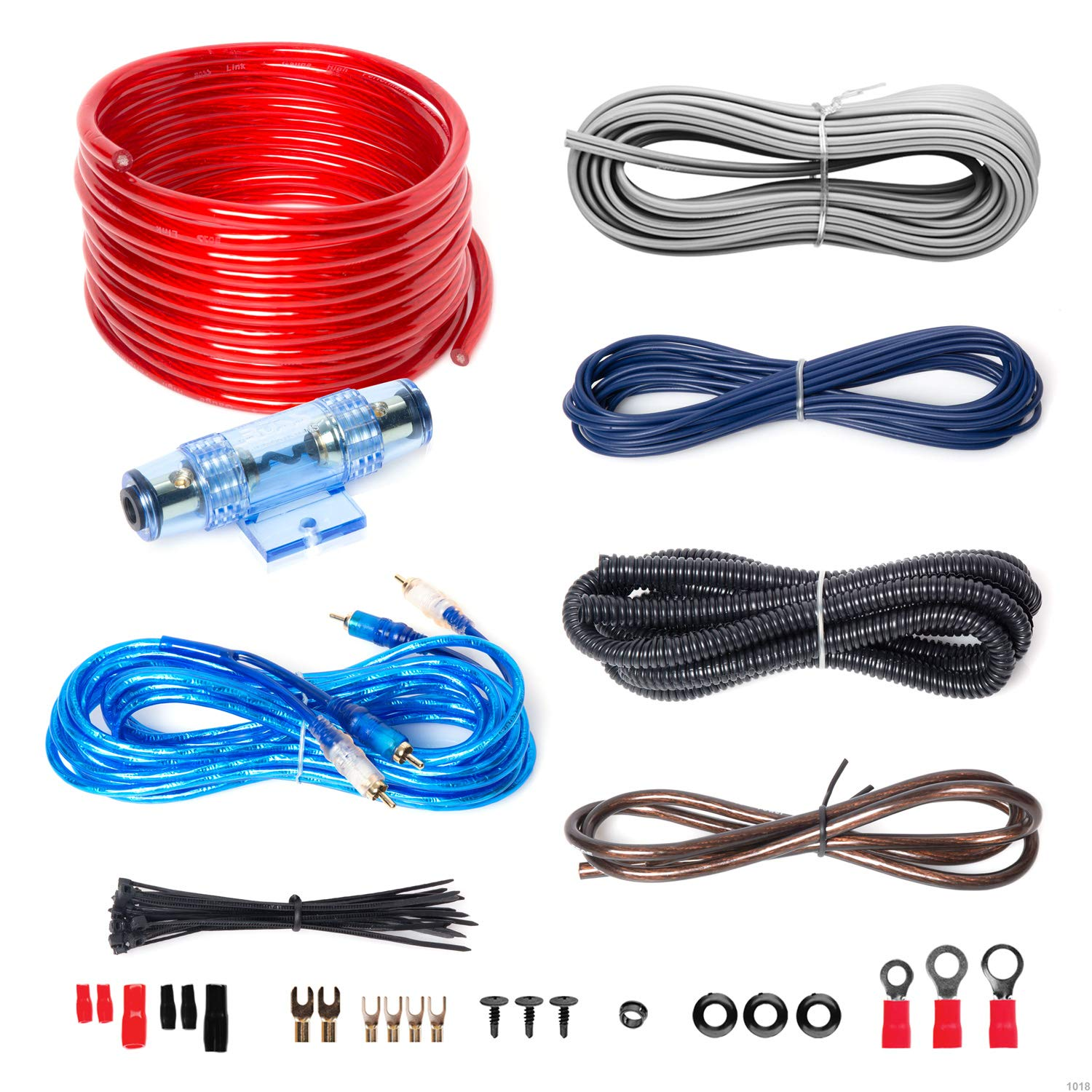 best amp for subwoofer amazon comboss audio kit2 8 gauge amplifier installation wiring kit \u2013 a car amplifier wiring kit helps you make connections and brings power to your radio, subwoofers