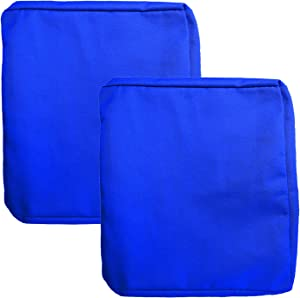 FLYMEI Outdoor Cushion Cover Replacement, Patio Loveseat Cushion Covers Only, Water Resistant Patio Cushion Cover (18'' X 16'' X 4'' 2Pack, Royal Blue)