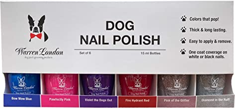 Warren London - Dog Nail Polish in A Bottle - for Premium Coverage and Color - All 6 Colors