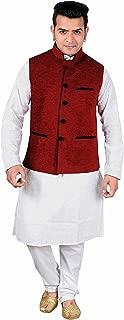 Men's Bollywood theme Indian Maharaja Gandhi Modi Style fancy Waistcoats 1015
