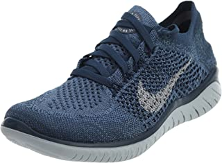 Nike Women's Free RN Flyknit 2018 Squadron Blue/Pure Platinum-Light Carbon 6.0