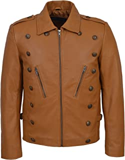 New Men's Rocketeer Billy Campbell Tan Nappa Classic Soft Leather Jacket 9650