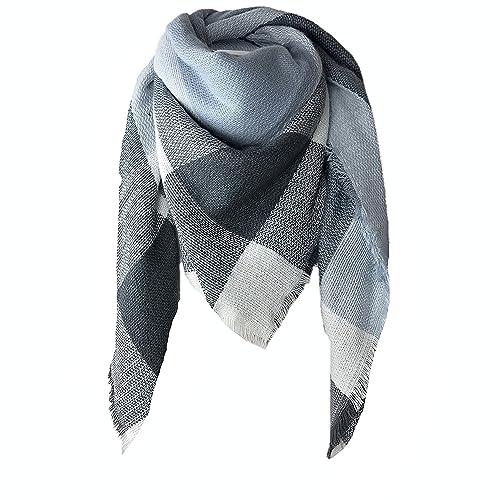 456c0fa27 Winter Warm Scarfs Women Shawl Scarf Ladies Plaid Blanket Tartan Scarf  Color Block Style with Tassel