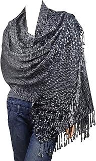 "Falari Women`s Woven Reversible Pashmina Shawl Wrap Scarf 80"" x 27"""