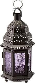 Gallery of Light 10016122 Purple Moroccan Style Lantern, Multicolor