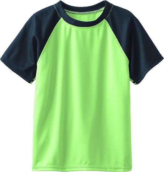 4T Rashguard Swim Shirt Contrast Aqua Kanu Surf Boys Toddler Short Sleeve UPF 50