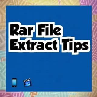 Rar File Extract Tips