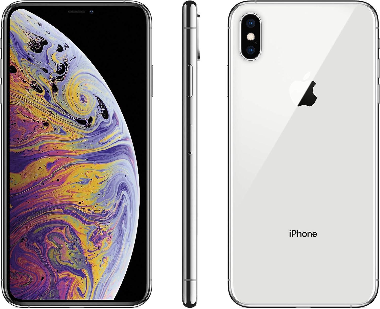 (Refurbished) Apple iPhone XS Max, US Version, 64GB, Silver - Unlocked