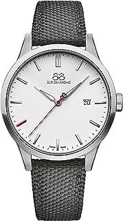 88 Rue du Rhone - Reloj suizo de cuarzo Rive Collection para hombre 87WA184106 esfera blanca