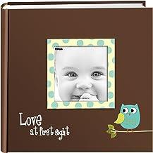 Pioneer Photo Albums EV-246FB/O 200-Pocket Baby Owl Printed Designer Frame Cover Photo Album 4 x 6 Inch Blue EV-246FB/OB