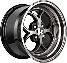 Klutch SL2 Double Dark Tint Black Wheel with Painted Finish (16 x 8. inches /4 x 100 mm, 15 mm Offset)