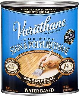 Varathane 239580H Water Based Wood Stain & Polyurethane, Quart, Golden Pecan