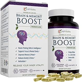 Brain & Memory Focus Nootropic – Enhance and Boost Concentration - Supports Clarity and Neuro IQ Power - Help Anxiety and ...