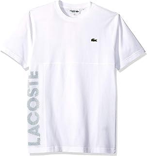 Lacoste Men's Sport Short Sleeve Super Light Knit Mesh Logo T