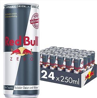 Red Bull Zero Calories 24 x 250 ml OHNE Pfand Dosen Getränke, Zuckerfrei 24er Palette