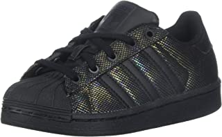 adidas Originals Kids' Superstar Black Iridescent I Running Shoe