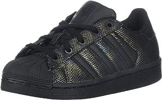 adidas Originals Kids' Superstar Black Iridescent I Running Shoe