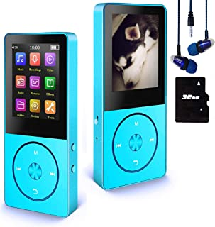 32GB Mp3 Player, Hotechs Hi-Fi Sound, with FM Radio, Recording Function Build-in Speaker Expandable Up to 64GB with Noise ...