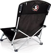 NCAA Florida State Seminoles Tranquility Portable Folding Beach Chair, Black