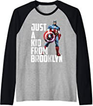 Marvel Avengers Captain America Just A Kid From Brooklyn Raglan Baseball Tee