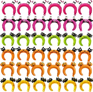 SOTOGO 36 Pieces Halloween Inflatable Headband Balloons Cute Headband Balloon Hair Band for kids & Adults Party Favors