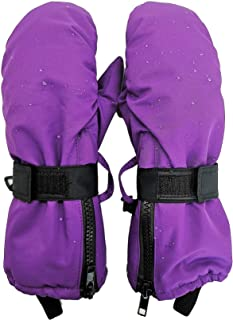 Highcamp Kids Waterproof Snow Mittens - Covered Boys Girls Age 2-12
