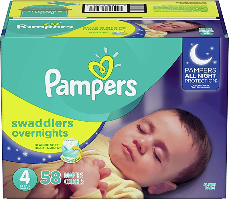 Diapers Size 4 58 Count Pampers Swaddlers Overnights Disposable Baby Diapers Super Pack