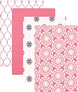 Hudson Baby Unisex Baby Cotton Flannel Receiving Blankets, Medallion, One Size
