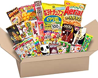 Japanese Valuable Party Snack BOX popular set Dagashi Japan Aerial chocolate Pocky with Akiba King Sticker