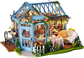 Kisoy Romantic and Cute Dollhouse Miniature DIY House Kit Creative Room Perfect DIY Gift for Friends, Lovers and Families ...