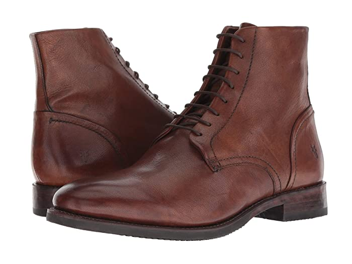 1920s Boardwalk Empire Shoes Frye Corey Lace-Up Cognac Goat Dip-Dye Mens Lace-up Boots $109.97 AT vintagedancer.com