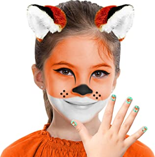 Almar Sales Company INC Fox Makeup Kit for Teens and Adults, Halloween Makeup, 8 Pieces