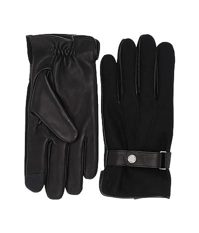 Polo Ralph Lauren Wool Melton Hybrid Gloves (Black) Over-Mits Gloves