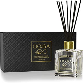 OOJRA Reed Diffuser Gift Set, Natural Essential Oil Long Lasting Fragrance 5 oz; Aromatherapy Air Freshener; French Provence Lavender (+Other Scent Options Available) w/Glass Bottle & Rattan Reeds
