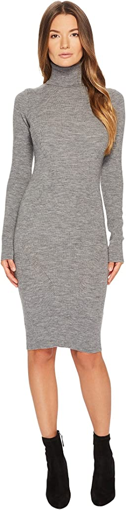 Knit Turtleneck Long Sleeve Dress