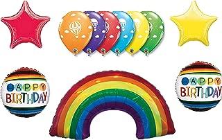 LoonBalloon Over the RAINBOW Wizard of Oz Hot Air 8 Birthday Party Mylar Balloons Set Kit
