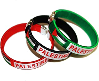 3 PALESTINE Country Flag C' Bracelets Wristbands.. New