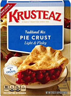 Krusteaz Traditional Light & Flaky Pie Crust Mix, 20 OZ (Pack of 4)