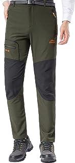 DENGBOSN Pantalon Montaña Hombre Secado Rápido Impermeable Pantalones Trekking Escalada Senderismo Acampada Transpirables y Ligeros