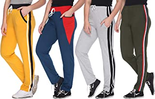 69GAL Women's Regular Fit Trackpants (Pack of 4)