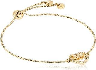 Michael Kors Women Cubic Zirconia Hearts Bracelet Rose Gold
