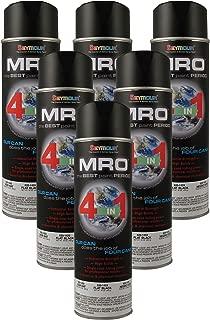 Seymour Spray Paint, Flat Black MRO Industrial Enamel Paint, 20 Fluid oz. Can, Pack of 6