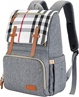 ESPIDOO Baby Diaper Bag Backpack, Large Waterproof Nappy Changing Bag for Travel