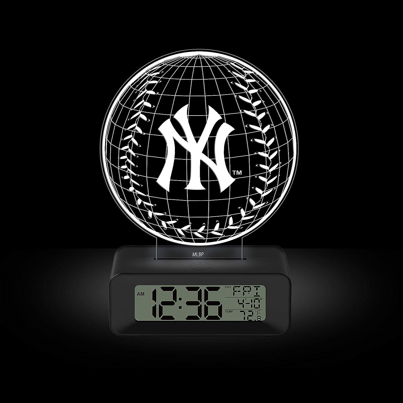 Game Time MLB Team Logo LED 3D York Illusion Alarm Clock Yan Indefinitely Regular dealer New