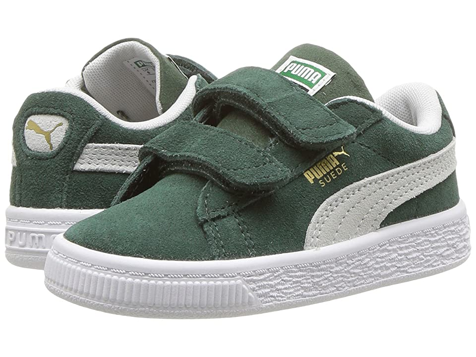 Puma Kids Suede Classic V (Toddler) (Pineneedle/PUMA White) Boys Shoes