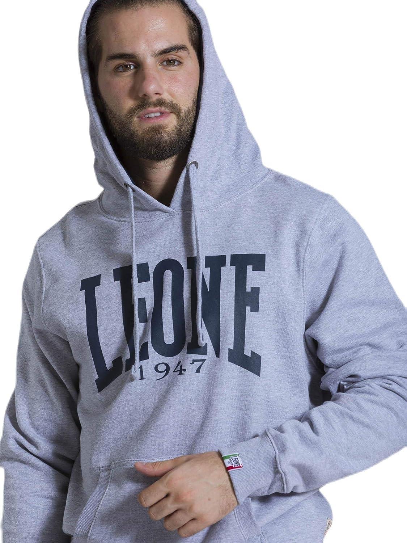LEONE Sport Fight Activewear Lsm563 Felpa con Cappuccio Uomo