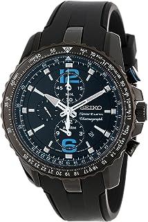 Seiko Men's SNAF25 Sportura Aviator Alarm Chronograph Japanese Quartz Watch