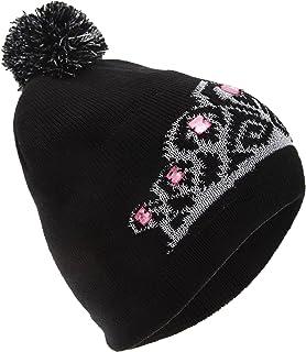 FLOSO Womens/Ladies Tiara Pattern Winter Beanie Bobble Hat