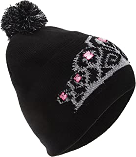 FLOSO Womens/Ladies Tiara Pattern Winter Beanie Bobble Hat