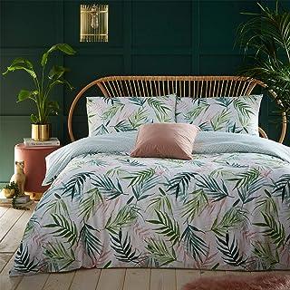 furn. Bali Palma nórdica y Funda de Almohada Conjunto, Verde, Rey
